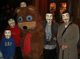 Anonymous and a bear by iFix