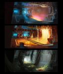 Ratchet and Clank: Gold Factory Concept by Liammacd