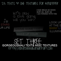 SET 3 :23 TEXTS+1 FOR WALL. by Gorgeousmali
