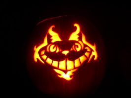 Cheshire Cat Pumpkin by Kyra84