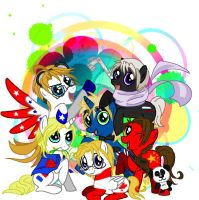 My Little Pony/Hetalia ALLIES by pIcKinGBloOdyrOSes