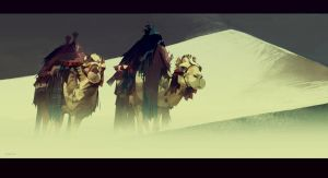 2 camels by mir-ahmad