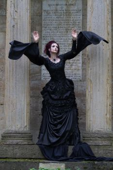 Stock - Victorian gohtic woman magic pose 2 by S-T-A-R-gazer