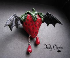 Bat berry brooch by CountessAudronasha