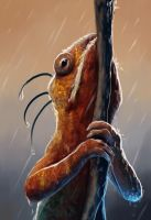 Chilling in the rain by endave