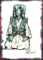 Twilek samurai colored by SilSolo