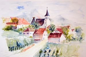 aquarelle Alsace by vogesen