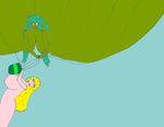 Green Heffalump Balloon Girl 4 by Temp17V