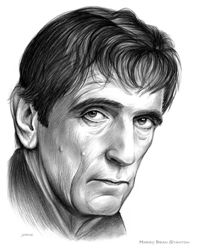 Harry Dean Stanton by gregchapin