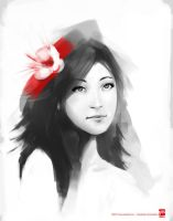 Girl With Flower by psdeluxe