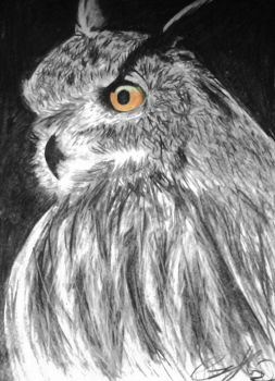 Eagle Owl Commission by Half--the--Fun