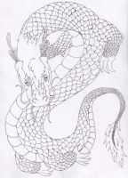 chinese dragon.ink by blooddragongirl