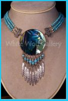 Avatar Neytiri Turquoise Necklace by White-Wolf-Gallery