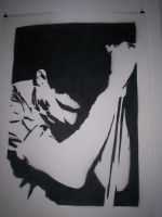 ian curtis stencil by xAversionX