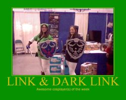 Awesome Cosplayer(s): Link and Dark Link by MasterRBG