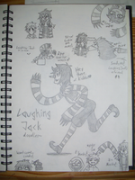 Laughing Jack doodles~ by SweetDeiDei