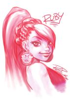 Ruby-Red Sketch by Robaato