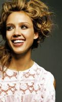 Jessica Alba Colorization by whitewithblackspots