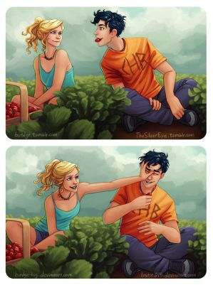 Percabeth Strawberries by Burdge-Bug by lostie815
