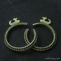 Bronze temple rings from medieval Poland by Sulislaw