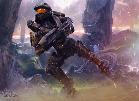 John 117 MasterChief HALO  BY:Wilson Burton. by wilsonBurton20