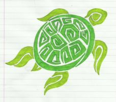 Green Turtle Tribal by Loopy-Lass