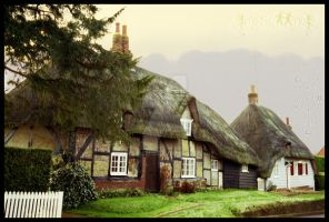 Thatched cottages by MysticMo