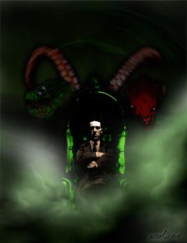 HP Lovecraft - Ezine cover - by bloodsoakedgraphics