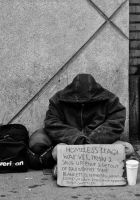 Homeless Iraq Veteran by Mjag
