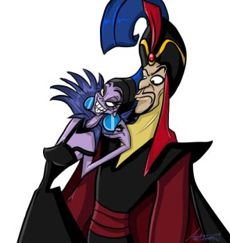 Yzma and Jafar (New and Improved!) by InvaderSonicMx