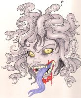 Madusa Queen of the Gorgon's by joebananaz
