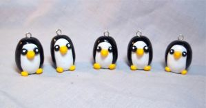 Ice Kingdom Penguin Charms by CadmiumCrab