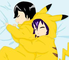 Comashipping pikachu pajamas by OneLoveOneFate