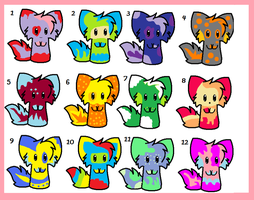 Cute Little Adoptables: 1 point each (2 left) by Stella-Kitty