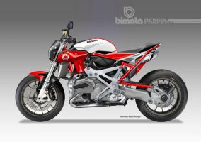 BIMOTA BB-4 S Cafe Fighter Concept # 8 by obiboi