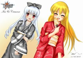 Ivis and Crimrose Yukata by skydager