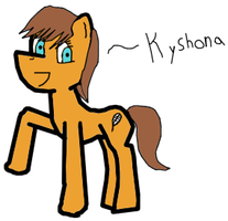 Kyshona can has Pony with color by macmcjones