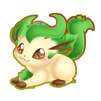 Leafeon :sittin' pretty: by Clinkorz