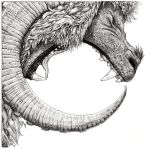 Be your own beast drop pen drawing by ZackMclaughlin