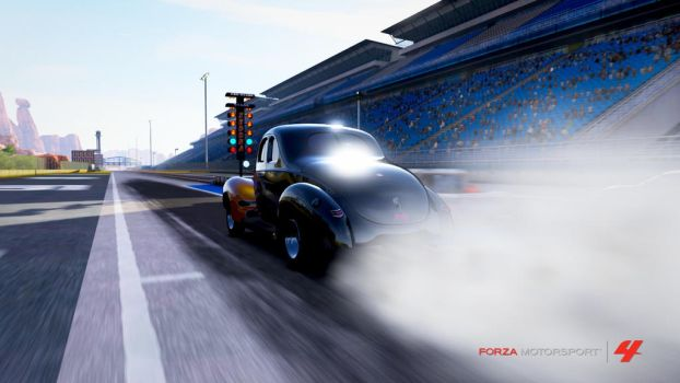 Ford '40 De Luxe Coupe Dragster by incognit000