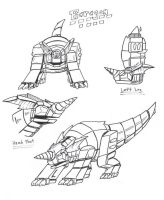 PR G-Force: Baragon Zord by Deadpoolrus