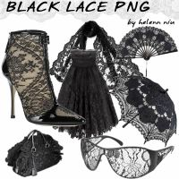 BLACK LACE PNG by helenniu