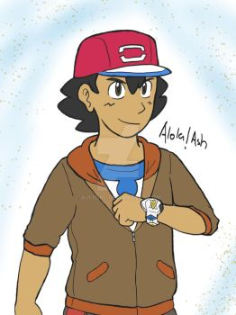 From Ashes to Ashes AU: Alola!Ash by AuFigirl