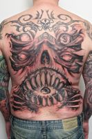 demon monster backpiece WIP by graynd