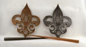 Celtic Fleur De Lis Leather Steampunk Barrette by ArmouredWolf907