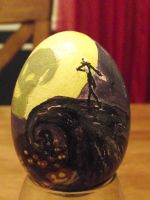 Nightmare before christmas egg by twitchyone09