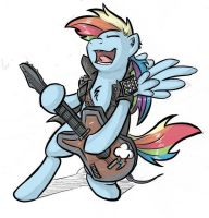 Rainbow Dash as a Guitarist by DLWIII