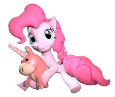 Pinkie Pie and Balloonicorn by Hellhounds04