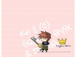 KH - chibi sora wallpaper by code-re