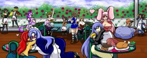 Maid Cafe Group Pic 01 colored by Anubis2Pabon288
